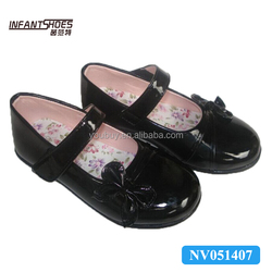 Bow-knot cute pu leather school shoes girls action uniform school shoes