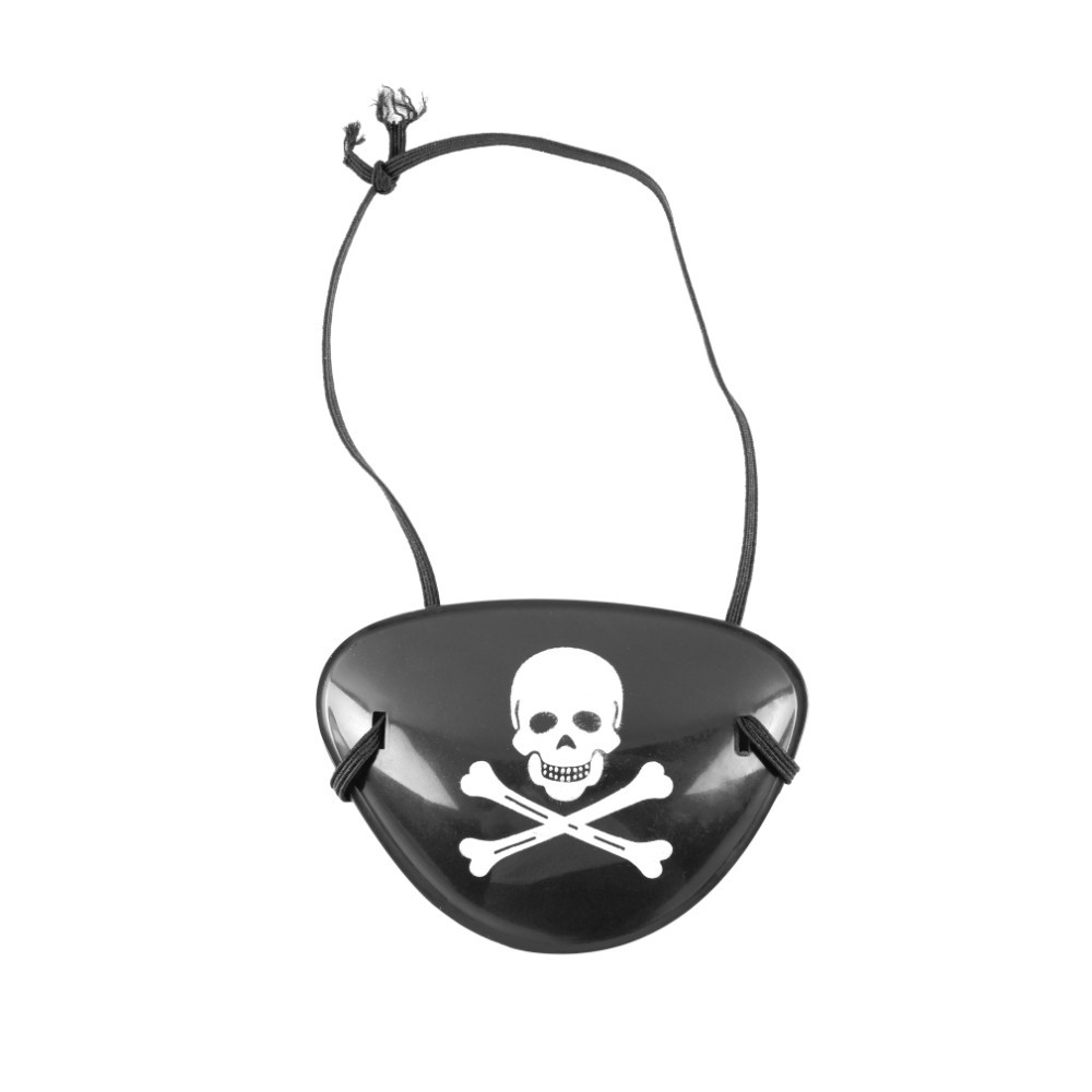2Pcs Pirate Eye Patch Skull Crossbone Halloween Party Favor Bag Costume Kids Toy