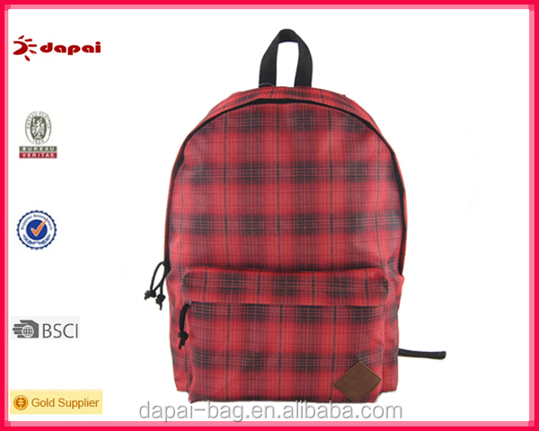 latest fashionable polyester backpack with various color combinations