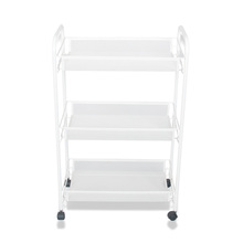 3 Shelves Mesh Wire Metal Rolling Utility Storage Cart
