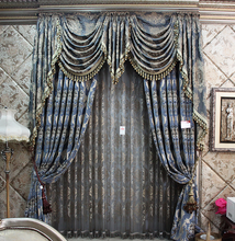 polyester royal embroidered luxury new curtain unique design