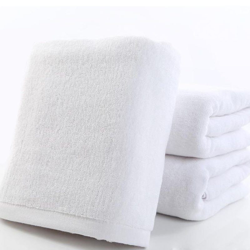 Luxury absorbent breathable white towel for hotel