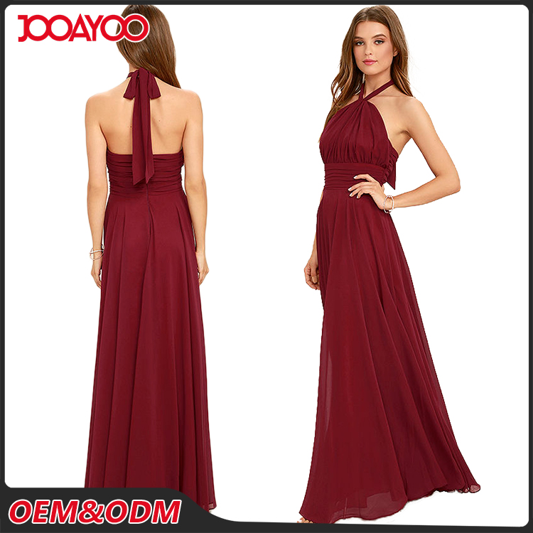 2016 Any Color Fashion Design Sleeveless Maxi Party Dresses Backless Long Lady Evening Dress