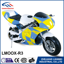 hot sale 49cc mini dirt bike pocket bike LMOOX-R3 with easy start engine