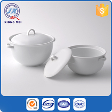 New design hotel restaurant white porcelain chinese soup tureen