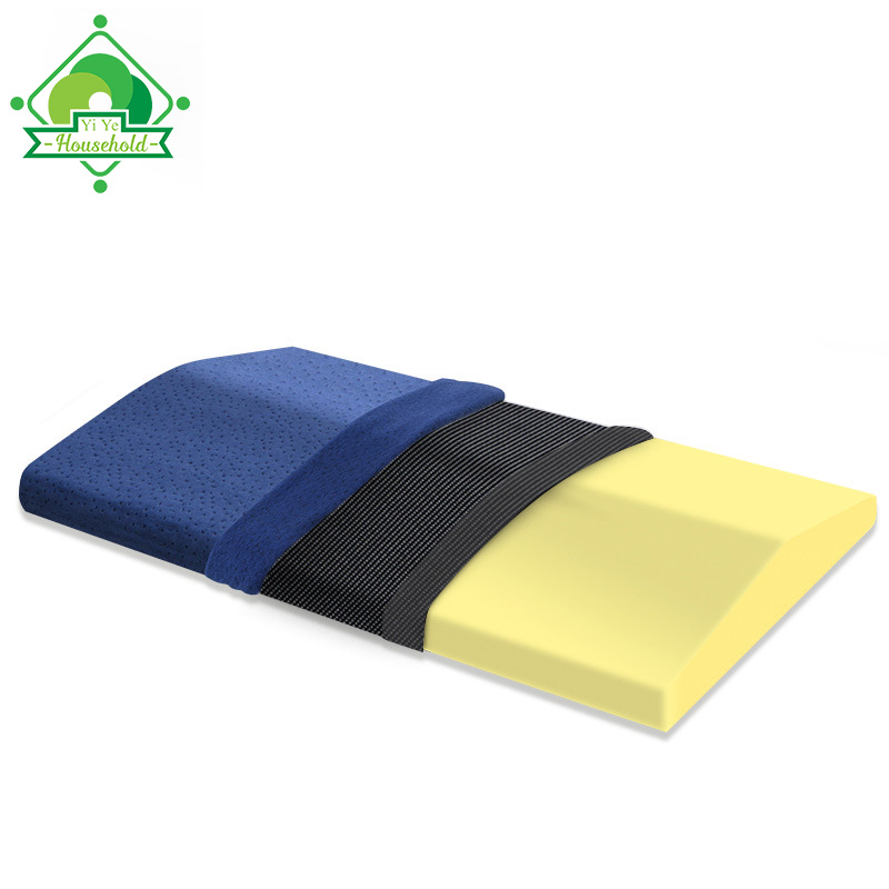 Lumbar Support Pillow Multifunctional Soft Memory Foam Sleeping Pillow Triangle Waist Cushion