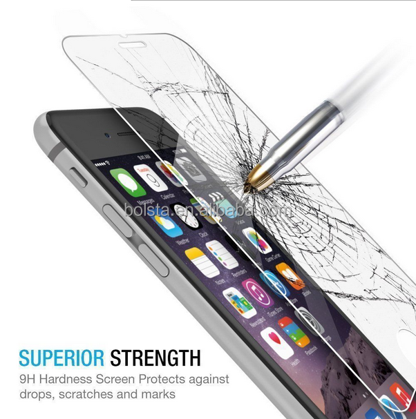 2 pack real clear tempered glass for iphone 6/6s tempered glass screen protector