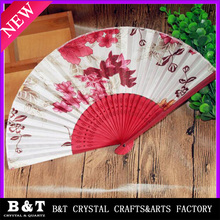 gifts foldable paper chinese wedding bamboo hand fan