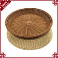 Oem cheap hand weave pp rattan empty fruit and bread storage basket