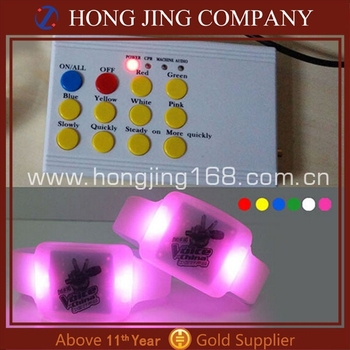Remote controlled led bracelet/wristband for wedding decoration