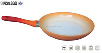 28cm aluminum forged color changing ceramic coating non-stick fry pan