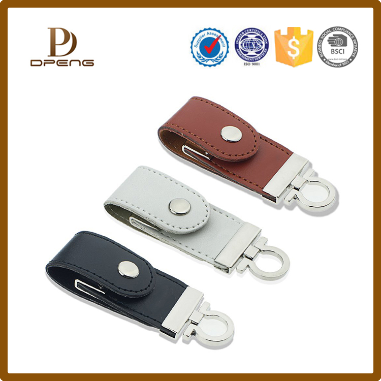 Hot selling leather usb flash drives storage cases, U disk case