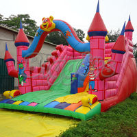 Hot Sale Animal Outdoor Inflatable Dry Slide With Climbing Wall