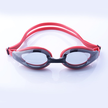 Adult swimming goggles with mirror lens for indoor pool or open water