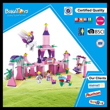 Best toys for 2016 christmas gift kid plastic castle building blocks