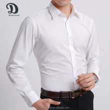 Wholesale solid color 100% cotton men business dress shirt