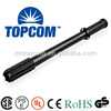 Aluminum alloy black power style torch cree led tactical flashlight with mace head TP-SZ609