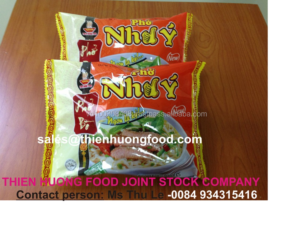 Beef flavour instant rice noodles 60gr- VI HUONG