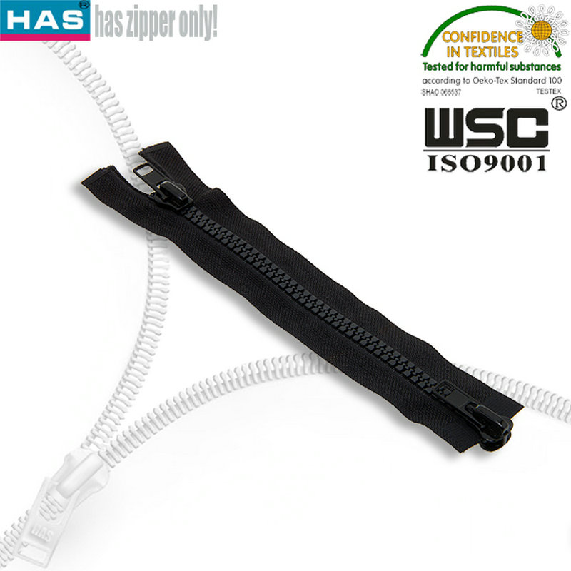 double ended plastic zipper crotch for garment decoration