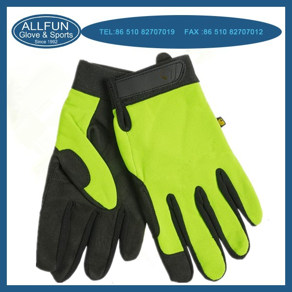 2015 Anti-shock anti-cut mechanic gloves working gloves for safety