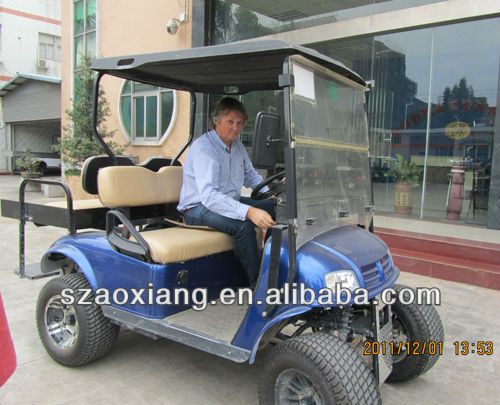 4WD Electric hunting buggy for sale,electric golf carts with folded flip flop seat kit
