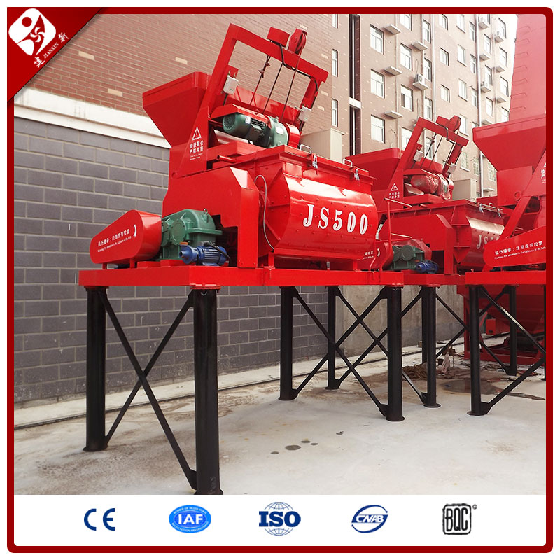 China Good Price 500L Capacity Hydraulic Hopper Horizontal Type Double Twin-Shaft Forced Cement Concrete Mixer Machine
