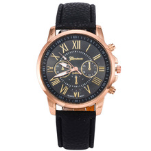 Hot sell men cheap leather western wrist watches geneva with night light