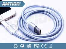 android mobile phone oem accessories for 2 in 1 usb charge cable