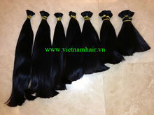 Raw bulk hair / unprocessed human hair bulk ,double drawn hair, Vietnam hair