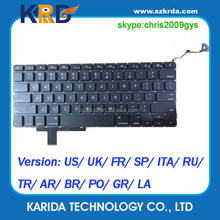 US/UK/SP/IT/FR/RU/TR/BR layout keyboard for Macbook Pro 17 A1297 laptop keyboard with backlit