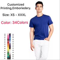 Wholesale high quality 100% Cotton custom emboreidery and printing fitted soft sport sweatshirts t shirt for mens