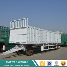China Factory Cheap Price 2 axles 3 axles side wall cargo semi truck trailer 20315