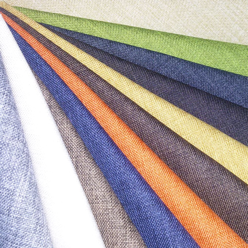 100% polyester LINEN LOOK Fabric for sofa