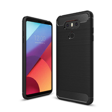 Carbon Fiber Soft TPU Shockproof Back Cover Case For LG G6/G6 pro/G6 plus