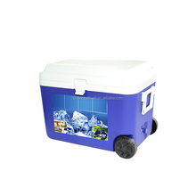 60L used fish ice chest on wheels,cooler box