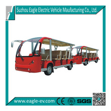 Electric sightseeing bus, toutist train, EG6158T with 6158T trailer