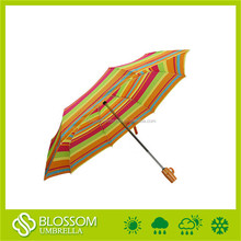 Chinese imports fashion design waterproof foldable stripe rain pop-up umbrella