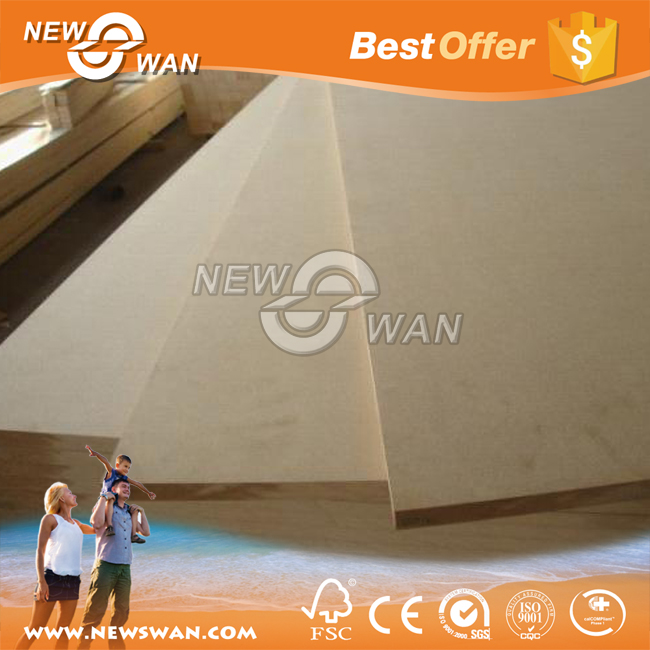 MDF Plain 18mm / 18 mm MDF Raw For UAE / Raw Medium Density Fiberboard