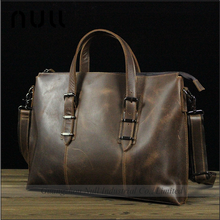 Crazy Horse Retro High Quality Durable Material Patterns Free Leather Bags Handbag For Men