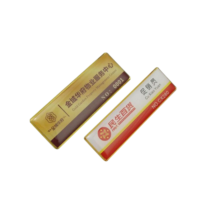 Company logo printing and epoxy process pocket badge for promotional