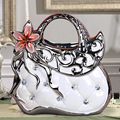 Modern wedding decoration gift ceramic decor handbag figurine