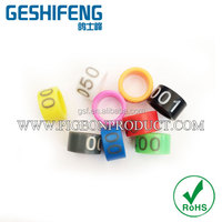 Custom Plastic Ring with Your Brand in All Colors All Sizes Used on All Pigeons Free Color Closed Plastic Laser Print,