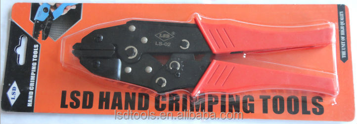 LS-02 non-insulated heating film connectors crimping plier flat jaws crimping tool