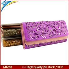 <strong>Fashion</strong> Pierced Designer Brands Clutch female Wallets High capacity Friend Gift Long purse