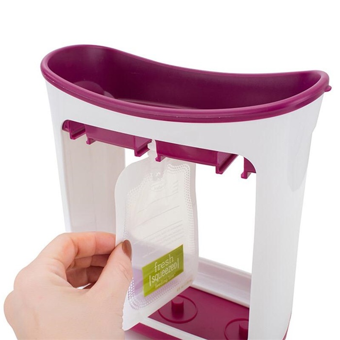 fresh infantino squeeze pouch juice station for baby food organisation