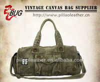 Army green Canvas Duffle Bag/ Canvas Travel Bag /Duffle bag for man