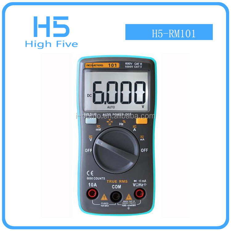 wholesale New RM101 Digital Multimeter 6000 counts Backlight AC/DC Ammeter Voltmeter Ohm Portable Meter