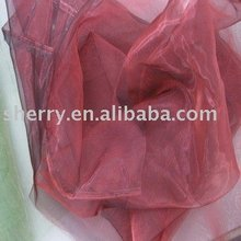 Fancy plain dyed Organza Fabric for Ladies lace wedding dress 40-50g/m