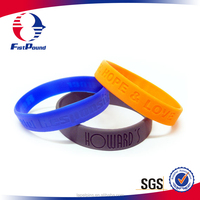Custom recycled silicone wristband with cheap price