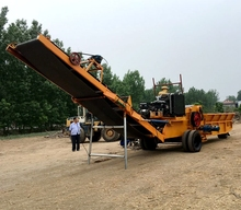 Large wood chipper for diesel oil